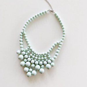Boutique Mint Green Waterfall Bib Necklace